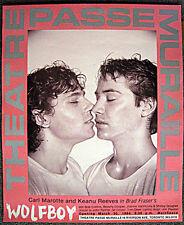 ORIGINAL KEANU REEVES WOLFBOY KISS POSTER GAY INTEREST HOMOEROTIC - RARE