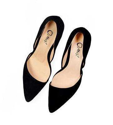 Women's Shoes Classic Zaralike Black Asymmetric Stiletto Pumps High Heels Sandal