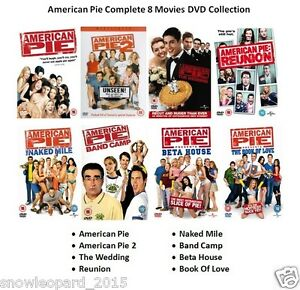 Details About American Pie All 8 Movie Film Complete Collection Dvd Box Set 1 2 3 4 5 6 7 8