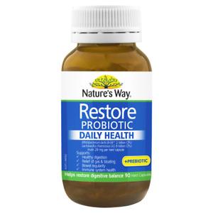Nature's Way Restore Probiotic Daily Health 90 Capsules Fridge Free Natures
