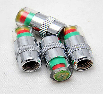 4 Pcs Car Auto Tire Monitor Valve Dust Cap Pressure Indicator Sensor Eye Alert