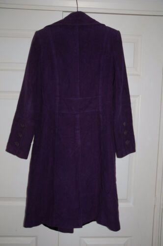 Sz Coat Jacket Planet 8 Xmas Oversized 10 Purple Buttons Moleskin New velvety dwAH4dqB