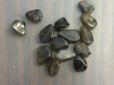 Vintage Destash Grayish Blue Purple Mix Iolite Gemstone Freeform Slab Bead Lot