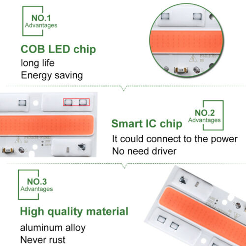 220//110V 20//30//50W Full Spectrum LED COB Chip Grow Light Plant Growing Lamp Bulb