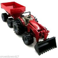 Case Ih Monster Treads Tractor And Wagon Set Ertl Toy