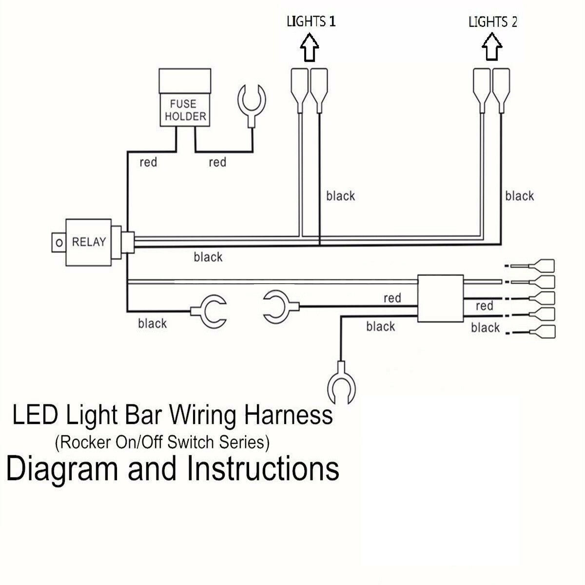 Rocker Switch Wiring Diagram With Relay Lighted 120v Waterproof 2lead Illuminated Led Light Bar Relayrocker