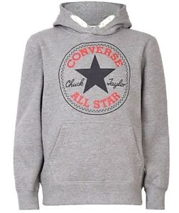 6aa77a9c3 Details about New Boys Converse Chuck Overhead Hoody Hoodie Grey Heather  Size XL 13-15 Years