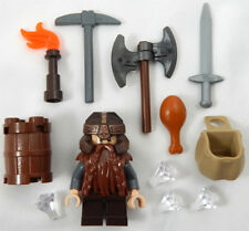 Lego Gimli Minifig Lord of The Rings Figure Minifigure LOTR Dwarf Axe Sword