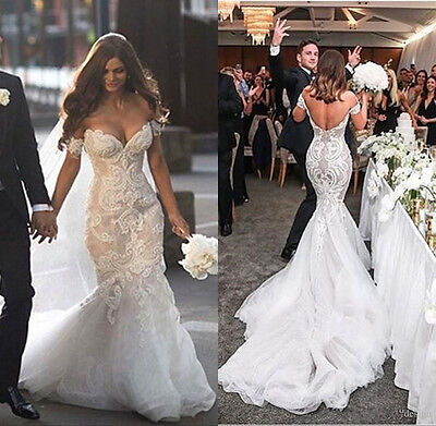 Off Shoulder Mermaid Beading Sequins Lace Wedding Dresses Sexy Bridal Gowns 2019 Ebay
