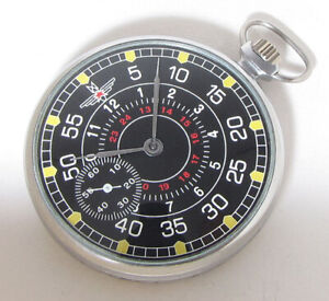 Molnija Air Force Pilot SHTURMANSKIE USSR Soviet MILITARY Pocket watch 4-1952