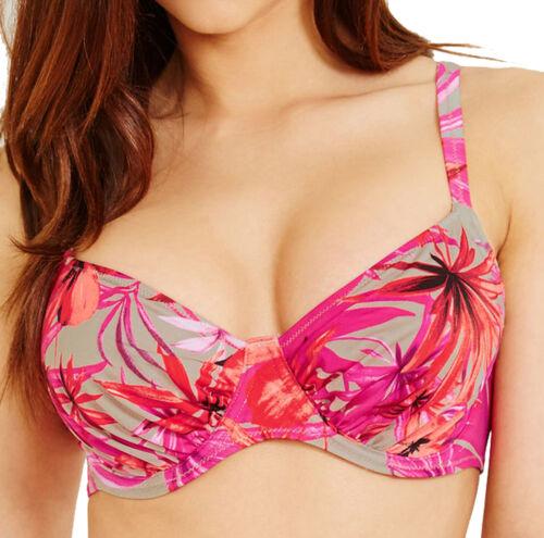 Ladies Fantasie Cuba Underwired Full Cup Bikini Top Red Swimwear Beachwear New