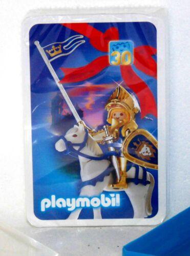 Playmobil Jeu de cartes 30 ans anniversaire Edition Doré Chevaliers neuf dans sa boîte NEUF RAR!!!