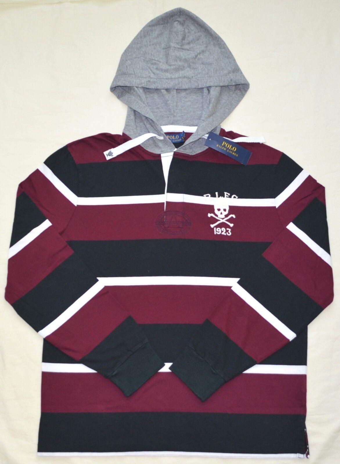 Neu XL XL Polo Ralph Lauren Herren mit Kapuze Rugby Hemd T-Shirt Kapuzenpulli