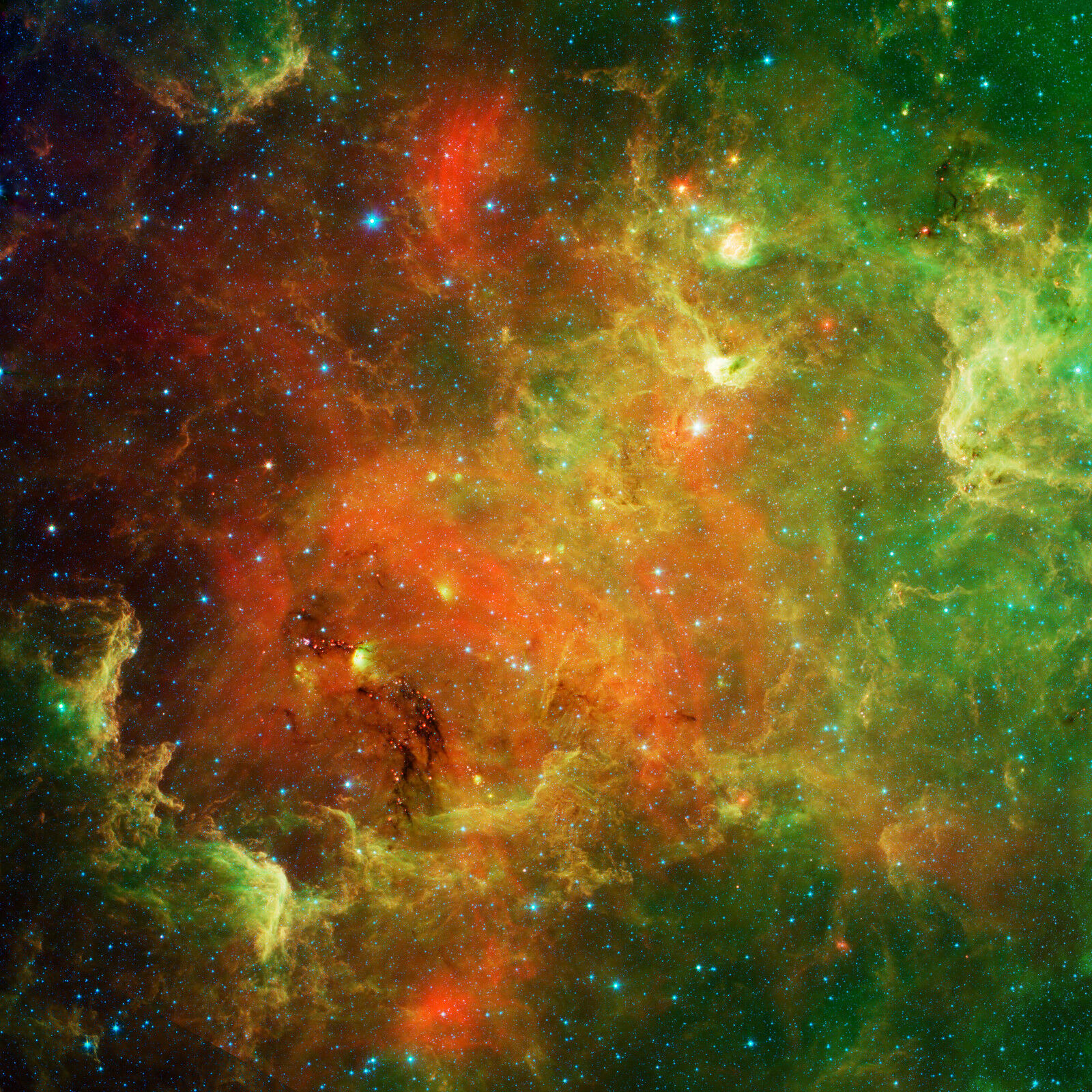 North America nebula Spitzer Hubble JPL NASA space telescope photo PIA13844