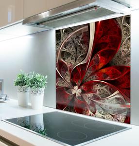 100 cm x 100 cm impression numérique verre Splashback Résistant à La Chaleur Trempé 124508399