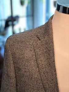 Homme-en-laine-gris-veste-en-tweed-395-Gagliardi-italien-Gray-Houndstooth-NEUF-40R