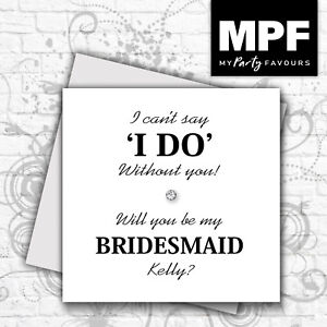 Personalised-hand-made-I-can-039-t-say-I-do-without-you-card-Wedding-Keepsake