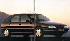 Citroen ZX 1991-92 UK Market Sales Brochure Volcane Aura Avantage Reflex