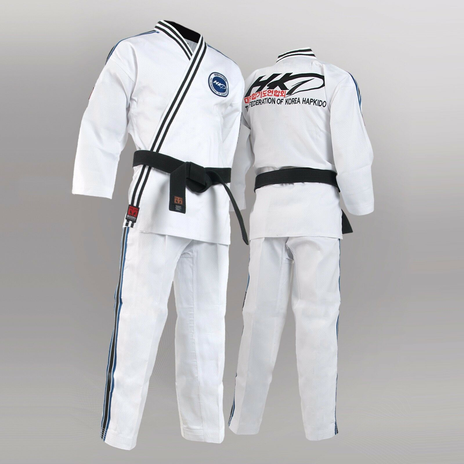 Mooto Official Original Korean Hapkido Federation Uniform Dobok Gi  HKD White New  the most fashionable