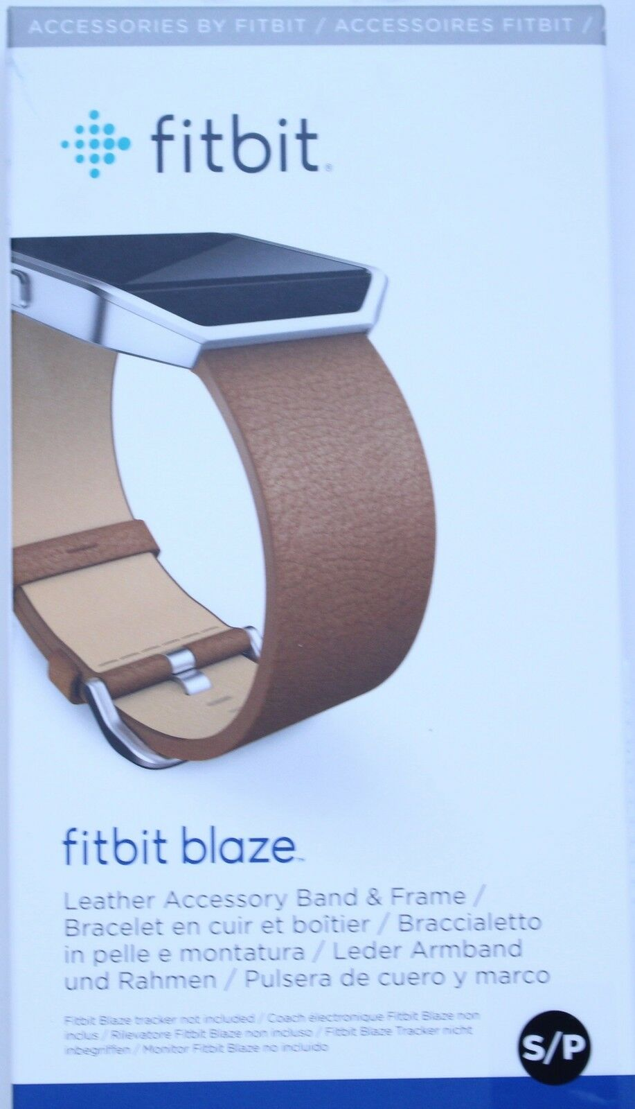 Fitbit Blaze Leather Accessory Band & Frame - Camel - Small