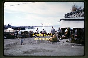 Early 1960's Korea Coast Scene and People, Original 35mm Slide b12a