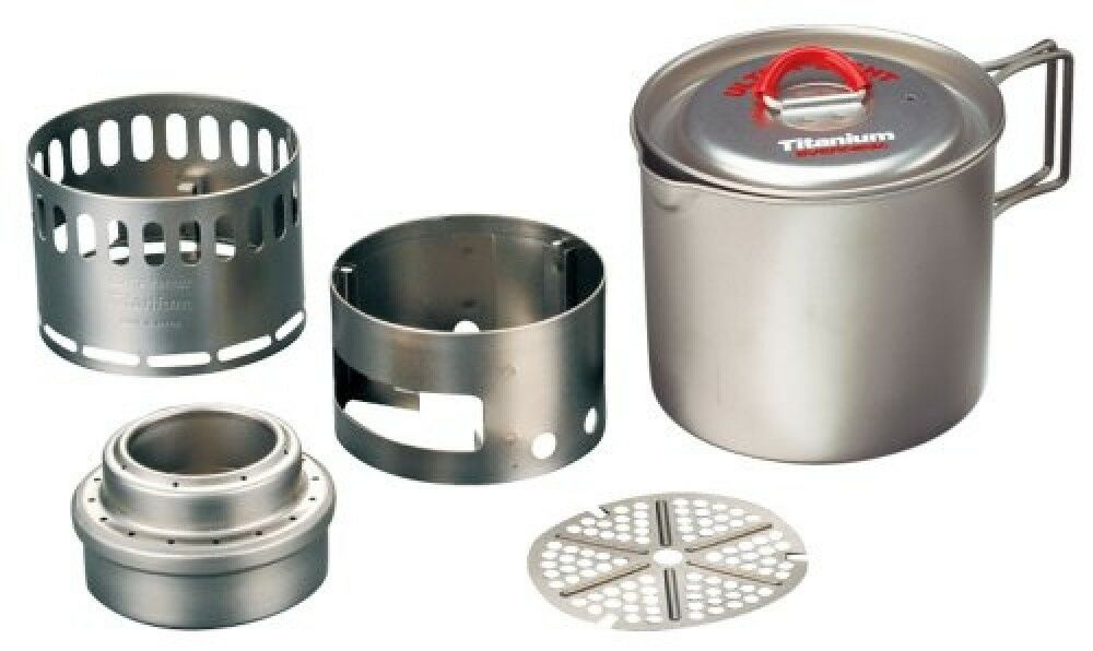Evernew Titanium Mug Pot 500 Stove Set ROT ECA268R Free Shipping