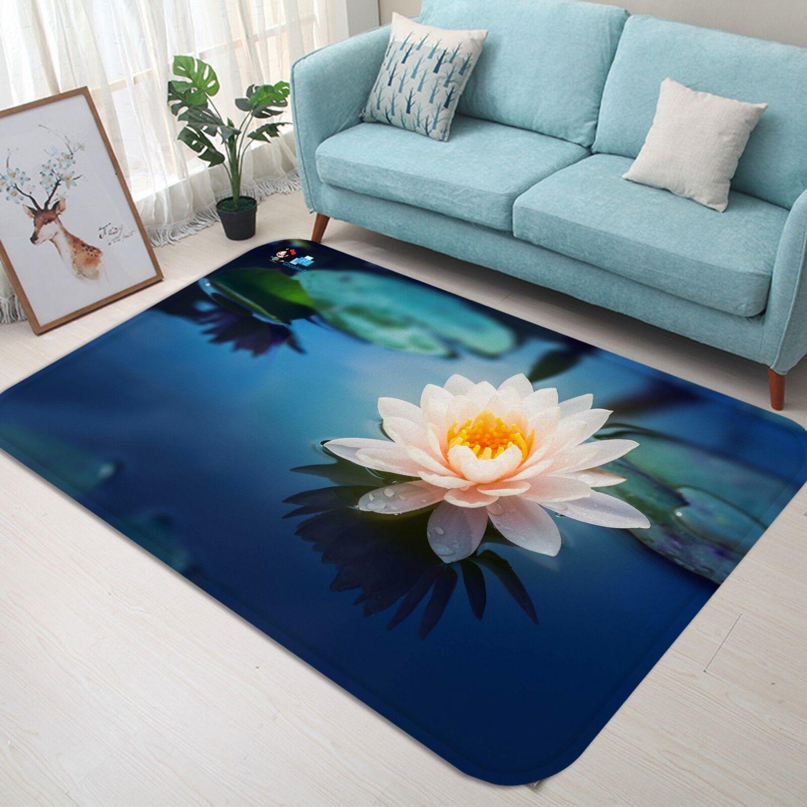 3D Pool Rosa Lotus 672 Non Slip Slip Slip Rug Mat Room Mat Quality Elegant Photo Carpet US 00fa7f