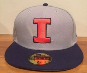 on sale 0ec31 5d9a5 Image is loading Illinois-Fighting-Illini-New-Era-59FIFTY-GCP-Fitted-