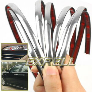 new 3m exterior car 6mm chrome adhesive strip molding styling decoration ebay. Black Bedroom Furniture Sets. Home Design Ideas