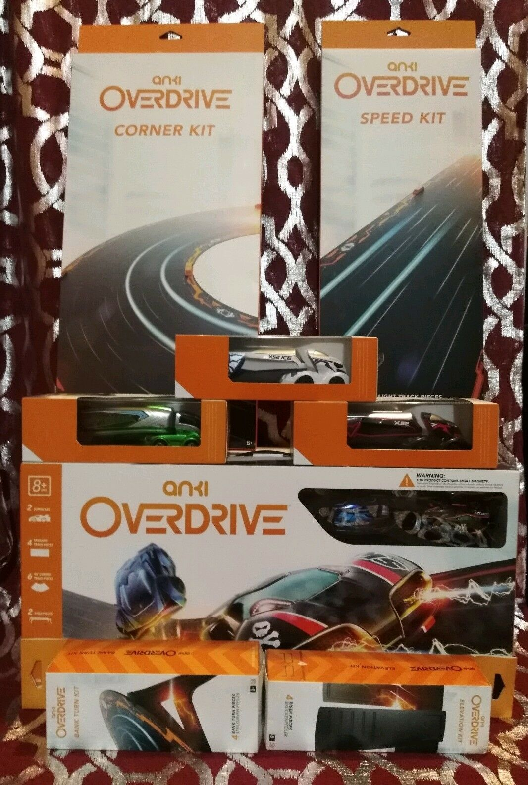 Anki Overdrive Starter Kit Super Car Battle Plus 7 Additional Add-Ons