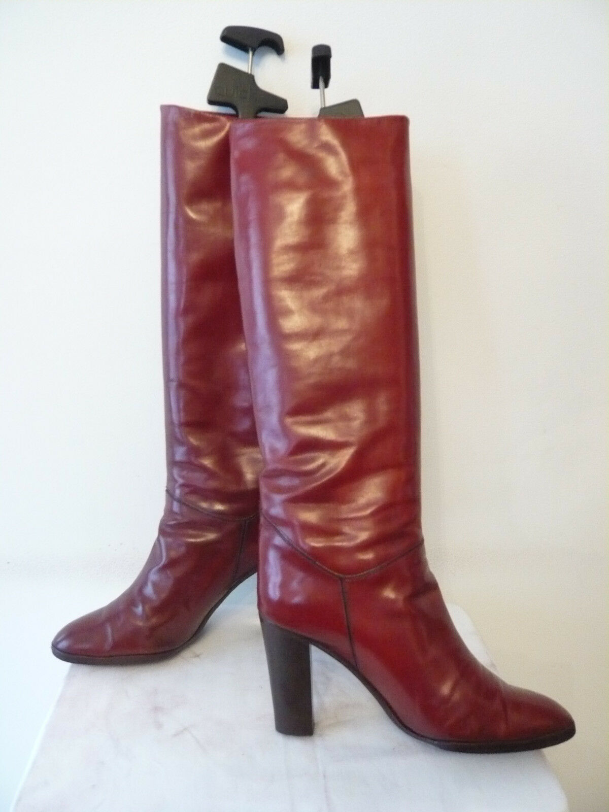 Stiefel Vintage 1982  Bordeaux-rot  - - - CHARLES JOURDAN Design --- T.39,5 75aef7