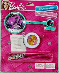 Barbie-Girls-Bicycle-Bell-Mirror-Combo-Lock-Accessory-Pack-Starter-Kit-4-New
