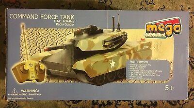 Qualità Al 100% Mega Motori Comando Forza Tank Telecomando Radio Controllato M1a1 Abrams Nuovo-mostra Il Titolo Originale Squisito Artigianato;