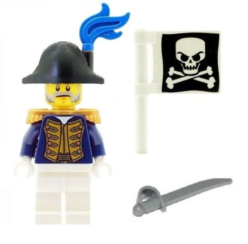 with plain hat from Set 70412 /& Sword /& Skull Flag NEW LEGO Pirate Governor