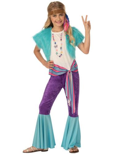 Hippy Girls Fancy Dress Costume Hippie 60s 1960s Child Outfit 70s Kids Woodstock