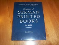Catalogue Of German Printed Books To 1900 British Museum Prints & Drawings Book