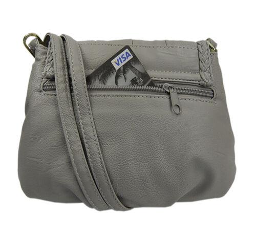 Mini Umhängetasche Fashion Tasche Damenhandtasche elegant Abendtasche fein Grau