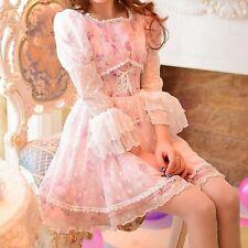 Candy Rain Lavender Lace Spring Maiden Dress / Lolita Princess Soft Sister Gyaru