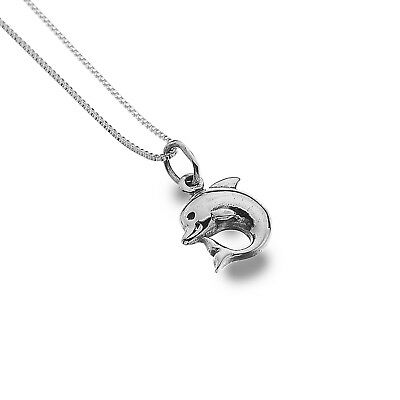 Baby Dolphin Pendant Sterling Silver 925 Hallmark All Chain Lengths