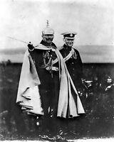 8x10 World War I Photo: Winston Churchill With Kaiser Wilhelm Ii Of Germany