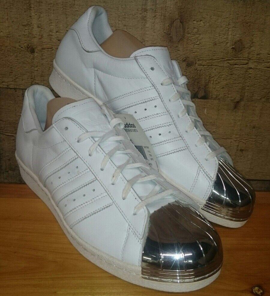 New Adidas Superstar 80s Metal Originals D67592 US Men Size 12 US Women Size 13