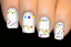 thumbnail 1 - Rainbow-Party-Lights-Christmas-Nail-Decal-Water-Transfer-Sticker-Tattoo