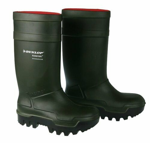 Dunlop Verde Térmico Botas Frío agua ( pesca,FÁBRICA,GRANJA Clima Frío Botas ,IMPERMEABLE 141ca4