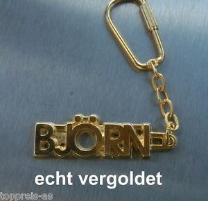Geschenk- & Werbeartikel Edler SchlÜsselanhÄnger Fabien Vergoldet Gold Name Keychain Weihnachtsgeschenk
