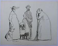 Dessin Original Encre Scène Famille Illustration HERMANN PAUL c.1900