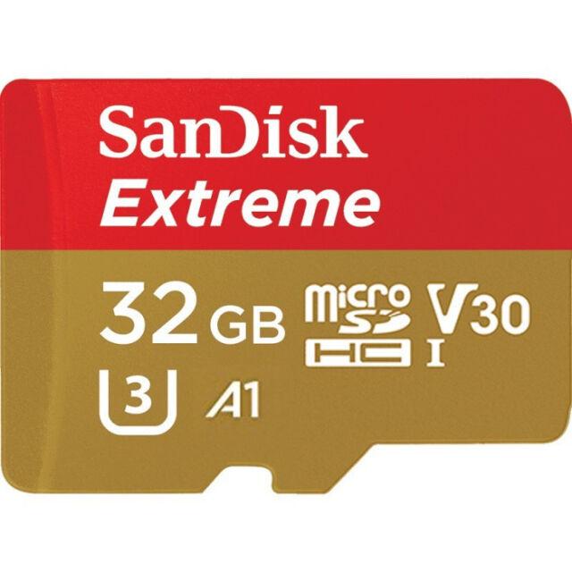 microsd 32 gb for SAMSUNG GALAXY J7-J5-J3-J1 100 MB/S 533X SANDISK full hd video