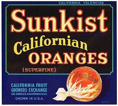 GENUINE FRUIT CRATE LABEL VINTAGE CALIFORNIA FRUITS 1930S SCARCE LOOMIS IMAGE