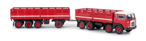 Fiat 690 Millepiedi autocarro con rimorchio rosso//nero//bianco S BREKINA 58407