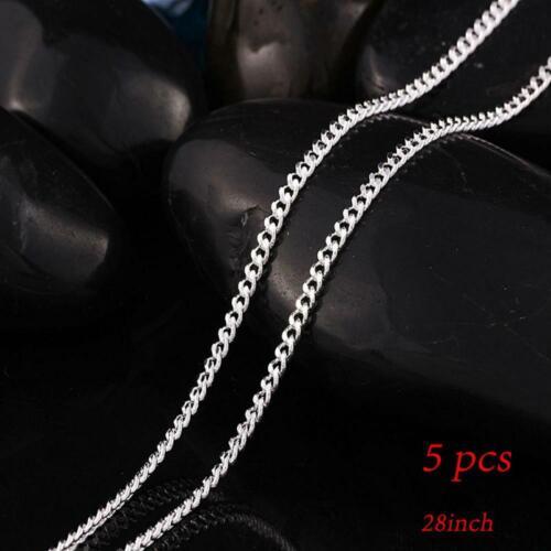 1//5pcs don pendentifs unisexe la mode chaîne argenté collier appartement