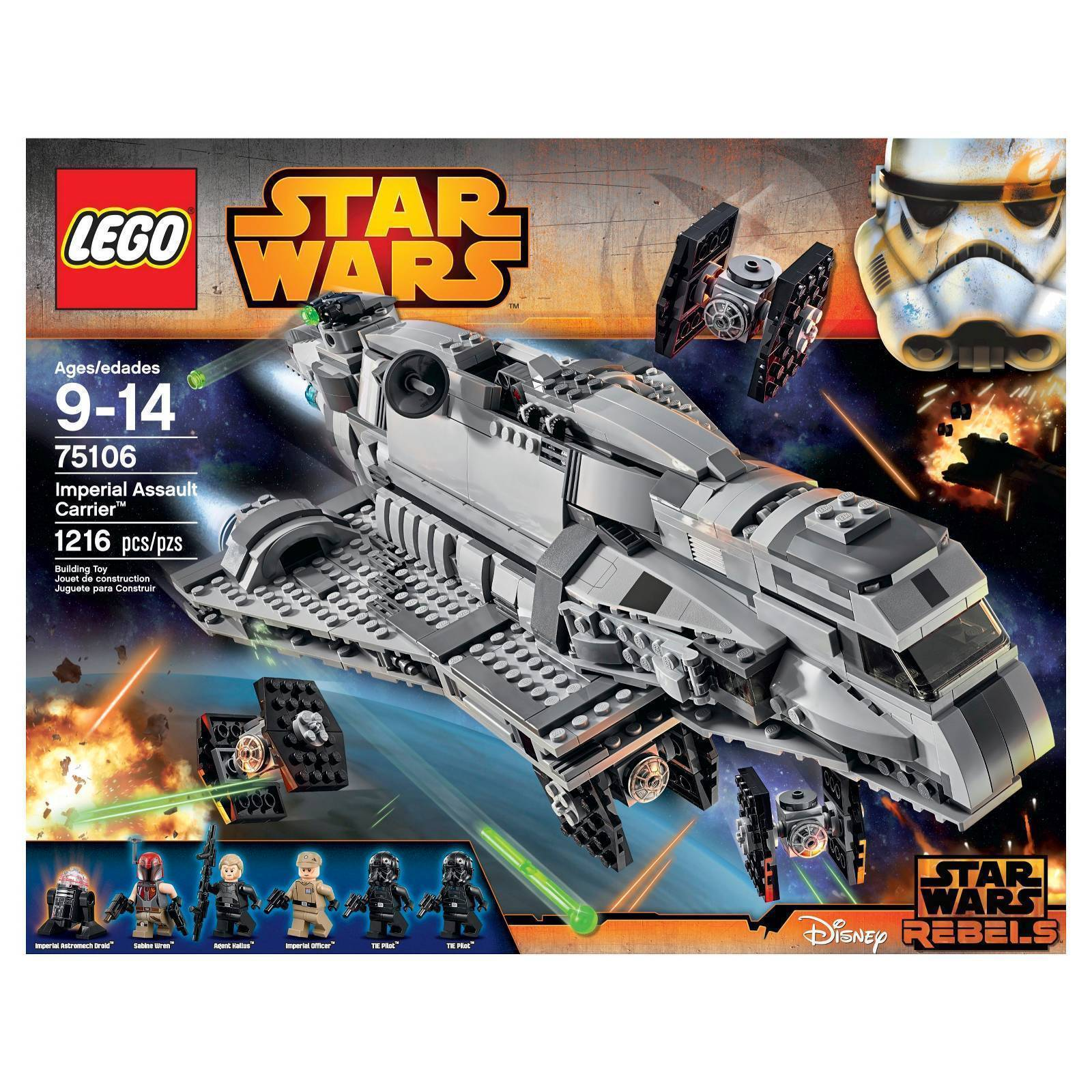 Lego Star Wars Imperial Assault Carrier 75106 Kit de construcción
